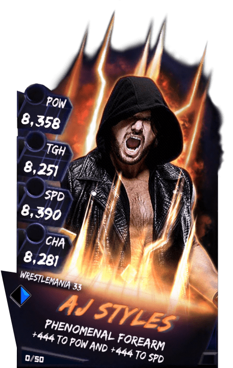 SuperCard AJStyles S3 14 WrestleMania33 Fusion