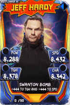 SuperCard JeffHardy S3 14 WrestleMania33 Throwback