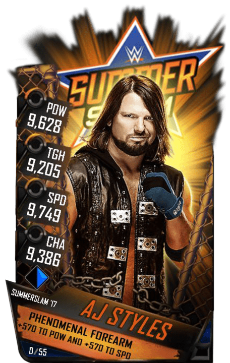SuperCard AJStyles S3 15 SummerSlam17