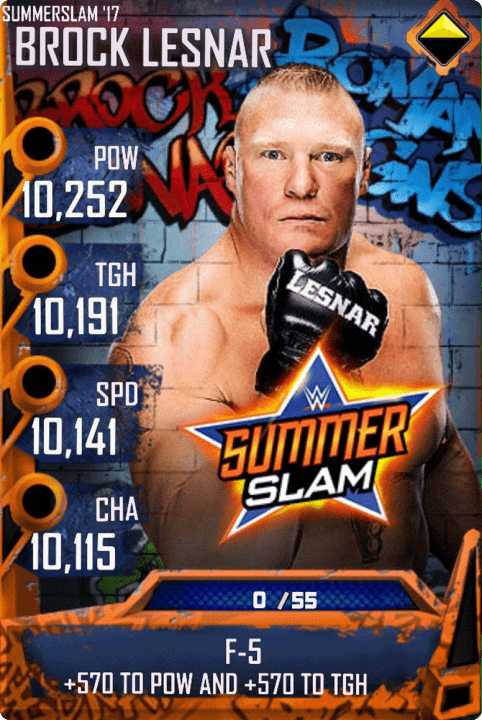 SuperCard BrockLesnar S3 15 SummerSlam17 MITB