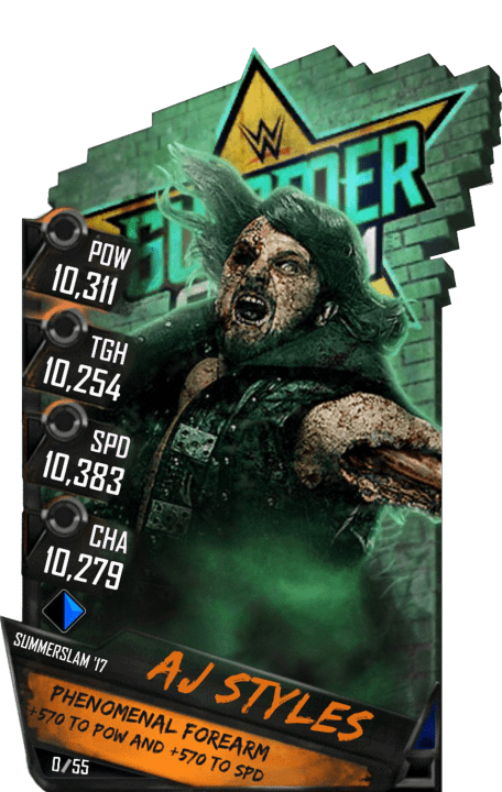 SuperCard AJStyles S3 15 SummerSlam17 RingDom Zombie