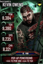 SuperCard KevinOwens S3 14 WrestleMania33 Zombie