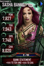 SuperCard SashaBanks S3 14 WrestleMania33 Zombie