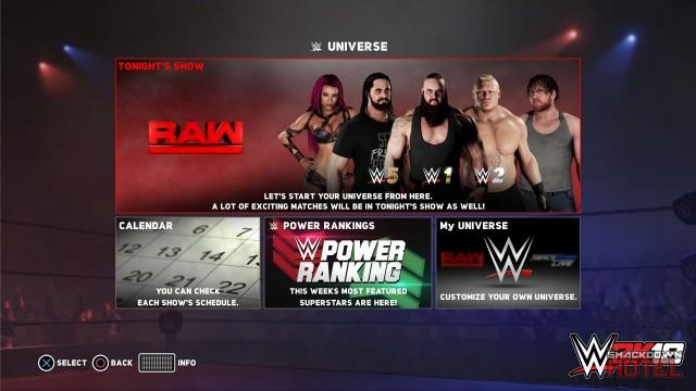 WWE 2K18: All WWE Universe Mode Details and Screenshots!