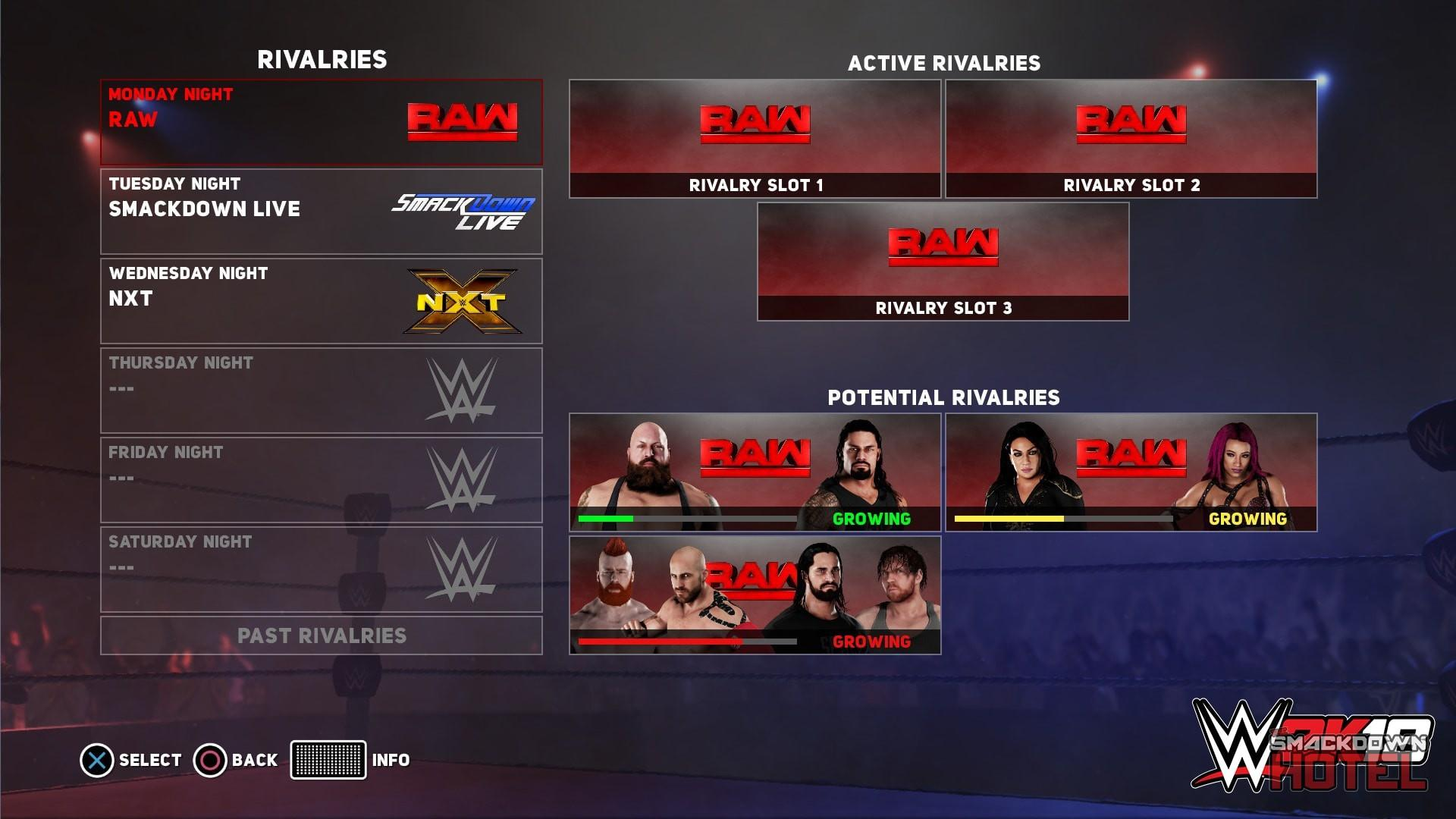WWE2K18 Universe2 Rivalries