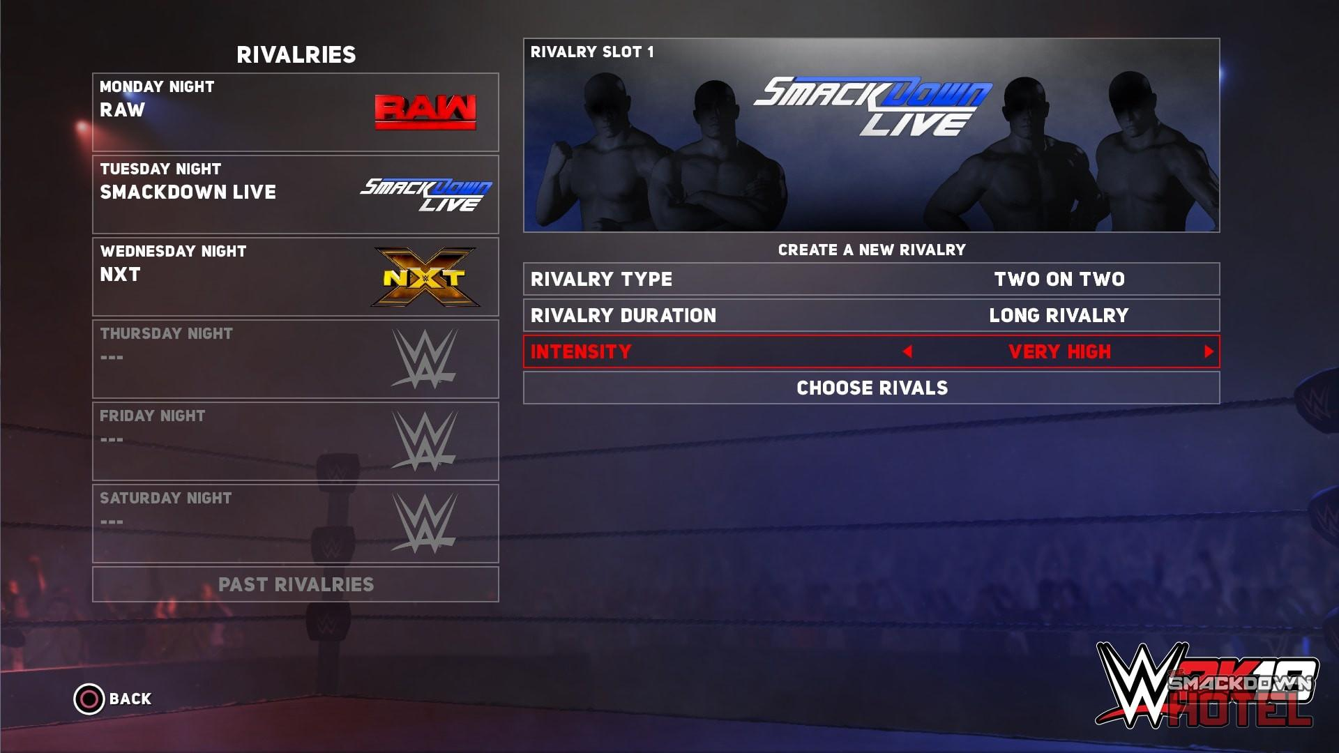 WWE2K18 Universe3 Rivalries