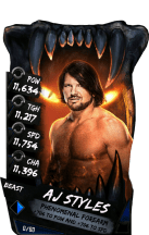 SuperCard AJStyles S4 16 Beast