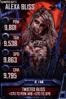 SuperCard AlexaBliss S3 15 SummerSlam17 Zombie