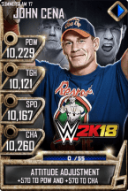 SuperCard JohnCena S3 15 SummerSlam17 WWE2K18