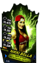SuperCard NikkiBella S4 17 Monster