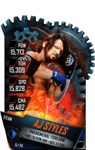 SuperCard AJStyles S4 18 Titan