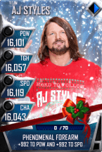 SuperCard AJStyles S4 18 Titan Christmas