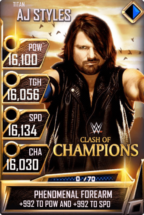 SuperCard AJStyles S4 18 Titan MITB