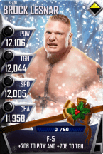 SuperCard BrockLesnar S4 16 Beast Christmas