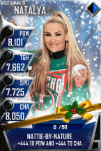 SuperCard Natalya S3 14 WrestleMania33 Christmas