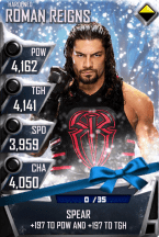 SuperCard RomanReigns S3 11 Hardened Christmas