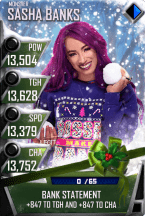 SuperCard SashaBanks S4 17 Monster Christmas