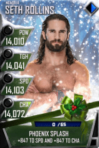 SuperCard SethRollins S4 17 Monster Christmas