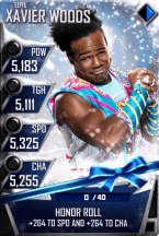 SuperCard XavierWoods S3 12 Elite Christmas