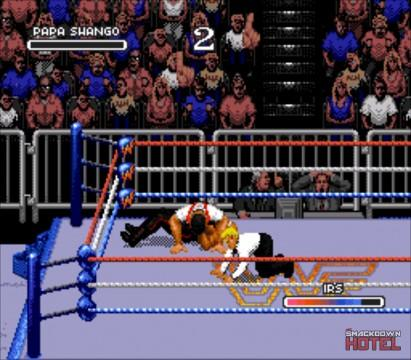 WWF RoyalRumble 1993 PapaShango IRS 2