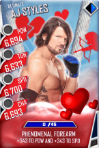 SuperCard AJStyles S3 13 Ultimate Valentine