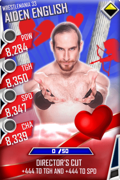 SuperCard AidenEnglish S3 14 WrestleMania33 Valentine