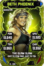 SuperCard BethPhoenix S4 17 Monster Throwback