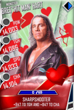 SuperCard BretHart S4 17 Monster Valentine