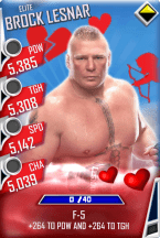 SuperCard BrockLesnar S3 12 Elite Valentine