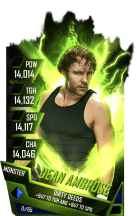 SuperCard DeanAmbrose S4 17 Monster Fusion