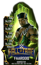 SuperCard Faarooq S4 17 Monster HallOfFame