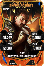 SuperCard JakeRoberts S4 16 Beast Throwback