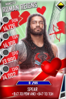 SuperCard RomanReigns S4 17 Monster Valentine