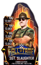 SuperCard SgtSlaughter S4 16 Beast HallOfFame