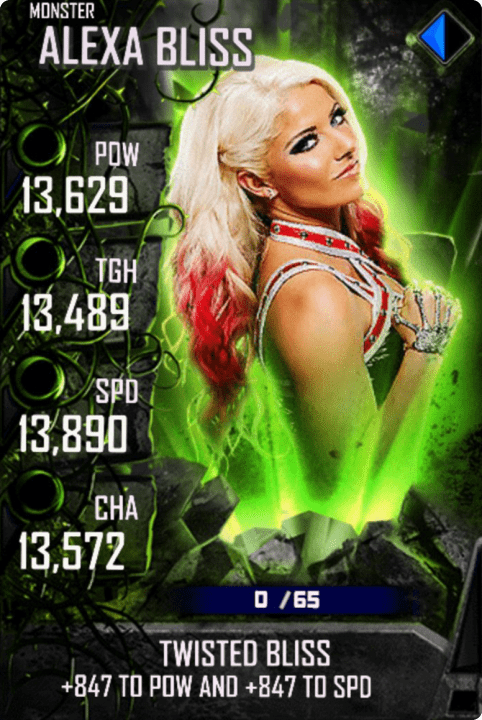 SuperCard AlexaBliss S4 17 Monster Spring
