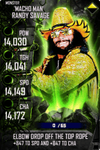 SuperCard RandySavage S4 17 Monster Spring