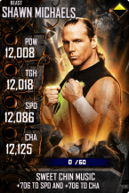 SuperCard ShawnMichaels S4 16 Beast Spring