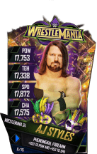 SuperCard AJStyles S4 19 WrestleMania34