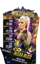 SuperCard AlexaBliss S4 19 WrestleMania34