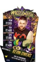 SuperCard KevinOwens S4 19 WrestleMania34