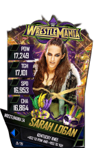 SuperCard SarahLogan S4 19 WrestleMania34