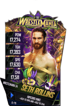 SuperCard SethRollins S4 19 WrestleMania34