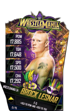 SuperCard BrockLesnar S4 19 WrestleMania34