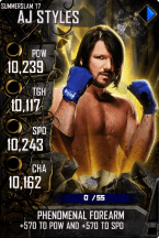 SuperCard AJStyles S4 15 SummerSlam17 Spring