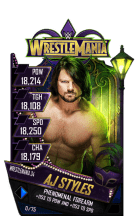 SuperCard AJStyles S4 19 WrestleMania34 RingDom