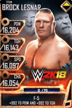 SuperCard BrockLesnar S4 18 Titan WWE2K18