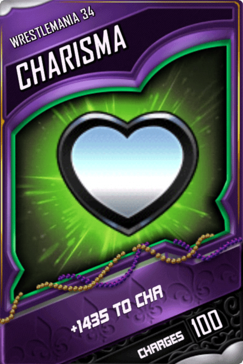 SuperCard Enhancement Charisma S4 19 WrestleMania34