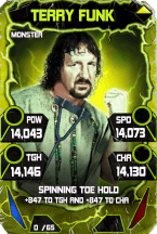 SuperCard TerryFunk S4 17 Monster Throwback