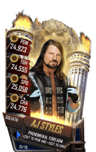 SuperCard AJStyles S4 20 Goliath