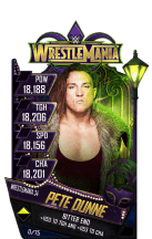 SuperCard PeteDunne S4 19 WrestleMania34 RingDom